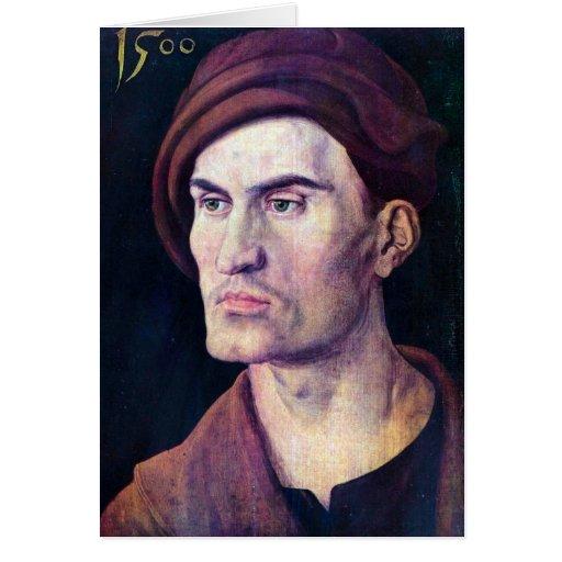 Albrecht Durer - Portrait of a young man Card