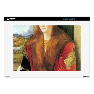 """Albrecht Durer - Portrait of an unknown in Red 15"""" Laptop Decals"""