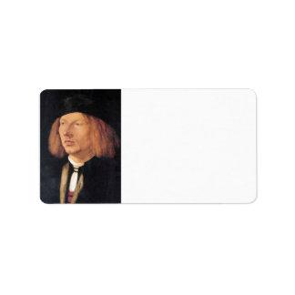 Albrecht Durer - Portrait of Burkard von Speyer Custom Address Labels