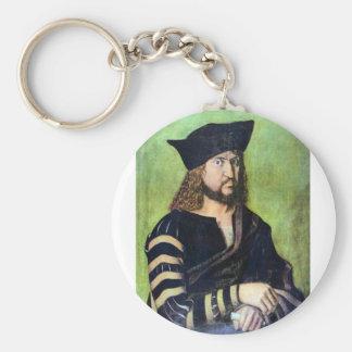 Albrecht Durer - Portrait of Friedrich des Weisen Key Chain