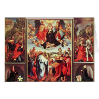 Albrecht Durer - Reconstruction of the open altar Stationery Note Card
