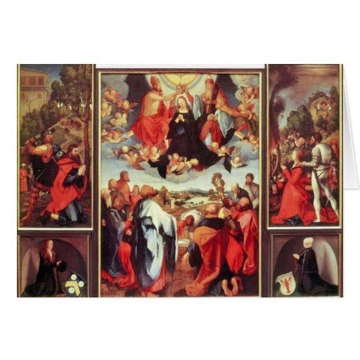 Albrecht Durer - Reconstruction of the open altar Greeting Cards