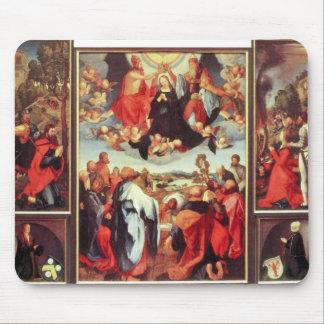 Albrecht Durer - Reconstruction of the open altar Mouse Pad