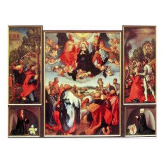 Albrecht Durer - Reconstruction of the open altar Postcard