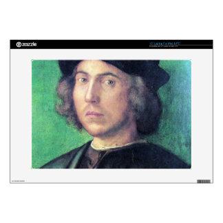 Albrecht Durer - retrato de un hombre joven contra Calcomanía Para 38,1cm Portátil