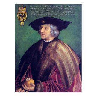 Albrecht Durer - retrato del emperador Maximilianb Tarjeta Postal