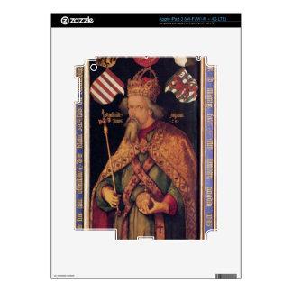 Albrecht Durer - retrato del emperador Sigismund Pegatinas Skins Para iPad 3
