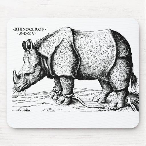 Albrecht Durer - Rhinoceros Mouse Pad