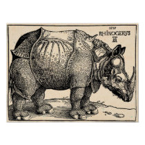 Albrecht Dürer Rhinoceros Poster