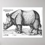 Albrecht Durer - Rhinoceros Poster