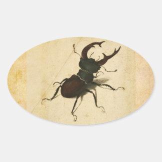 Albrecht Durer Stag Beetle Renaissance Vintage Art Oval Sticker
