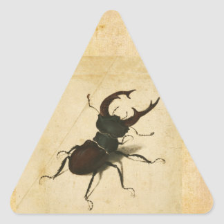 Albrecht Durer Stag Beetle Renaissance Vintage Art Triangle Sticker