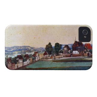 Albrecht Durer - suburbio de Nuremberg con una igl iPhone 4 Case-Mate Funda