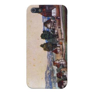Albrecht Durer - suburbio de Nuremberg con una igl iPhone 5 Coberturas