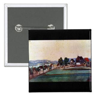 Albrecht Durer - suburbio de Nuremberg con una igl Pins