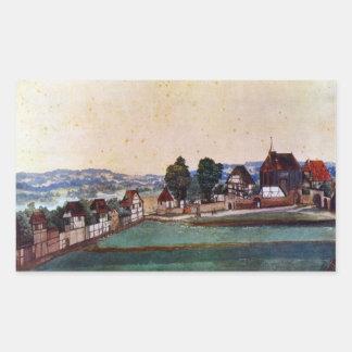 Albrecht Durer - suburbio de Nuremberg con una Rectangular Altavoz