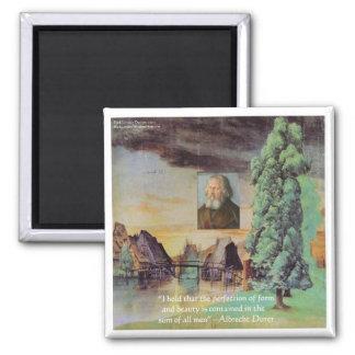"Albrecht Durer ""Sum Of Man"" Wisdom Quote Gifts Magnet"