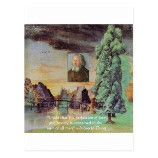 "Albrecht Durer ""Sum Of Man"" Wisdom Quote Gifts Postcard"