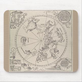 "Albrecht Durer - ""The Celestial Map - South"" Mouse Pad"