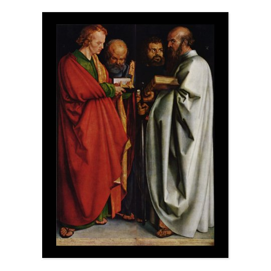 Albrecht Durer The Four Apostles Postcard