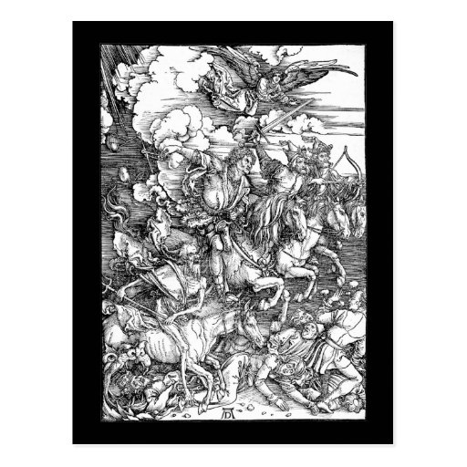 Albrecht Durer The Four Horsemen of the Apocalypse Post Cards