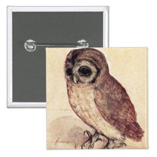 Albrecht Durer The Little Owl Button