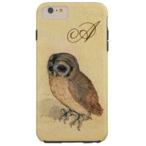 Albrecht Durer The Little Owl Custom Monogram Tough iPhone 6 Plus Case