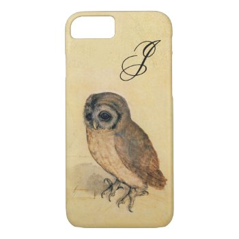 Albrecht Durer The Little Owl Monogram iPhone 8/7 Case