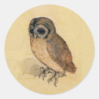Albrecht Durer The Little Owl Round Sticker