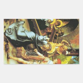 Albrecht Durer - The seven Marys pain - Crucificti Rectangular Sticker