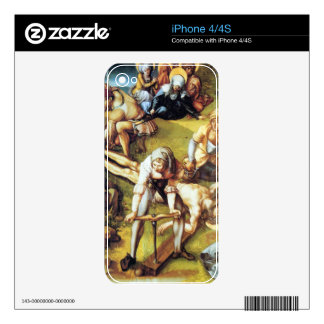 Albrecht Durer - The seven Marys pain - nailing on iPhone 4 Decal