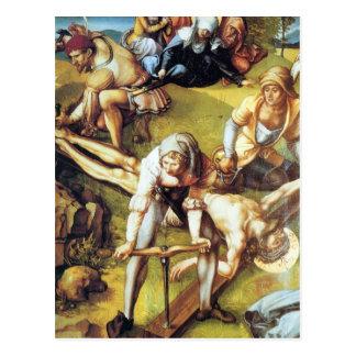 Albrecht Durer - The seven Marys pain - nailing on Postcard