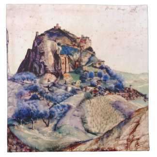 Albrecht Durer - View of Arco 2 Cloth Napkins