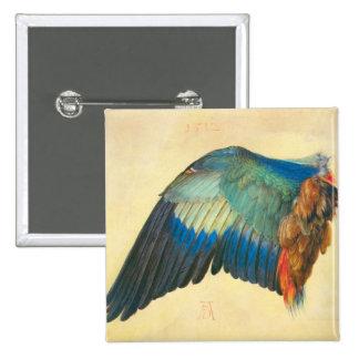 Albrecht Durer - Wing of a Blaurake Pinback Buttons