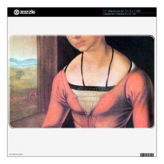 Albrecht Durer - Woman with braided hair MacBook Air Decal
