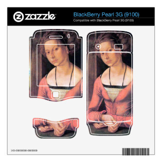 Albrecht Durer - Woman with braided hair Decal For BlackBerry