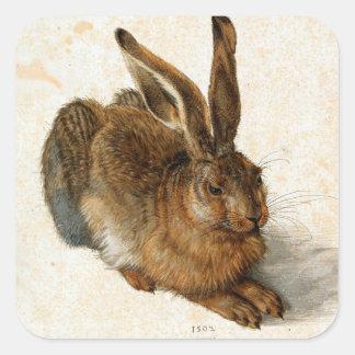 ALBRECHT DÜRER - Young hare 1502 Square Sticker