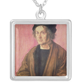 Albrecht Durer's Father, 1497 Silver Plated Necklace