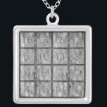 """Albrecht D&#252;rer&#39;s Magic Square Silver Plated Necklace<br><div class=""""desc"""">albrecht d&#252;rer&#39;s magic square,  detail from his &quot;Melancholia I&quot;</div>"""