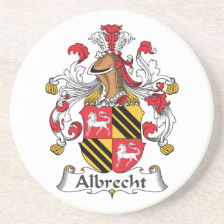 Albrecht Family Crest Drink Coasters