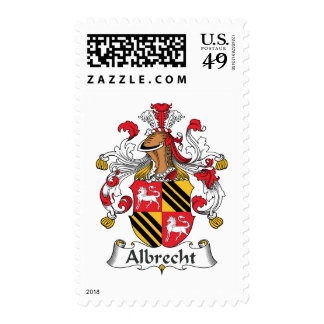 Albrecht Family Crest Postage Stamps