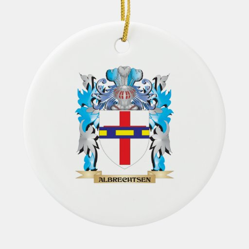 Albrechtsen Coat Of Arms Double-Sided Ceramic Round Christmas Ornament