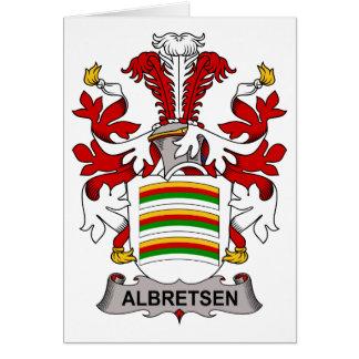Albretsen Family Crest Greeting Card