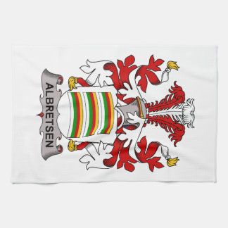 Albretsen Family Crest Hand Towels
