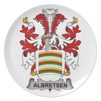 Albretsen Family Crest Plate