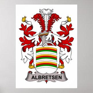 Albretsen Family Crest Poster
