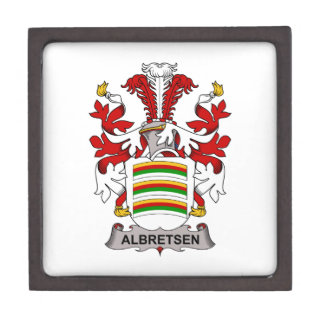 Albretsen Family Crest Premium Trinket Boxes
