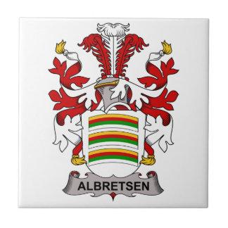 Albretsen Family Crest Ceramic Tiles