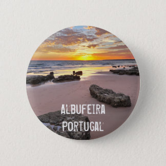 Albufeira - Portugal. Summer vacations in Algarve Button