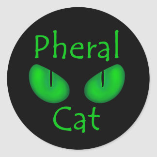Album Art oficial del gato de Pheral (ojos verdes) Pegatina Redonda